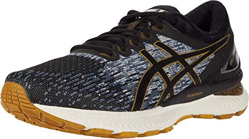 ASICS Men's Gel-Nimbus 22 Knit Running Shoes, 12M, Black/Black