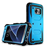 Samcore Galaxy S7 Edge Case Full Body Protective Shock Reduction Belt Clip Case with Rugged Holster Without Built in Screen Protector for Samsung Galaxy S7 Edge [Blue]