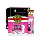 Stretch Mark Cream for Pregnancy - Belly Balm - 100% Organic (4 Oz)