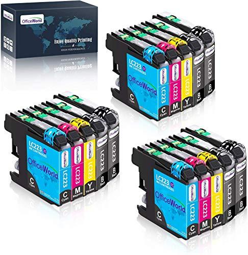 OfficeWorld Reemplazo para Brother LC223 Cartuchos de tinta Compatible para Brother DCP-J4120DW J562DW,MFC-J480DW J880DW J4420DW J4620DW J5320DW J5620DW J5720DW J680DW (6 BK, 3 C, 3 M, 3 Y)