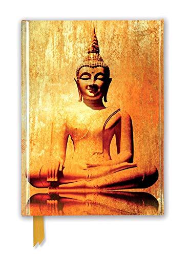 Premium Notizbuch DIN A5: Goldener Buddha: Unser hochwertiges, liniertes Blankbook mit festem, künstlerisch geprägtem Einband und Magnetverschluss (Premium Notizbuch DIN A 5 mit Magnetverschluss)
