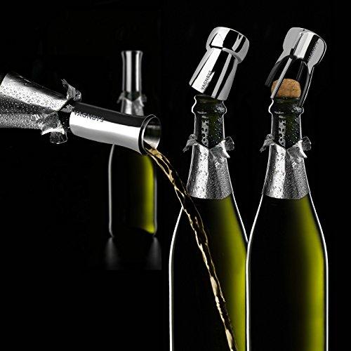 Vagnbys - Champagner-Set, 3-teilig bestehend aus Öffner, Verschluss & Ausgießer