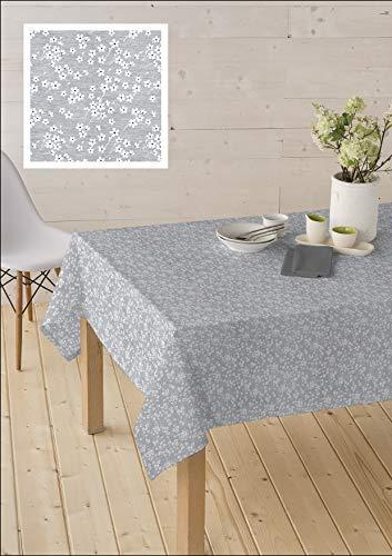 Home Imagine Mantel Antimanchas de Tela Resinada - Mil Flores 02. Producto Estrella 2021. Disponible en Varias Medidas. (140_x100_cm)