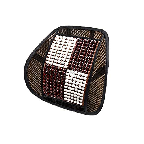 Cuscino del sedile con supporto lombare posteriore - Con cinghia di posizionamento elastica e massaggio lombare - Allevia la sciatica alla schiena e il dolore al coccige - per sedia da ufficio per aut