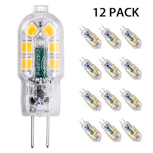 Tomshine G4 LED 12V Lampen, 3W Warmweiß 3000K, G4 LED Birnen Leuchtmittel Glühbirnen, AC/DC 12V Kein Flackern Nicht Dimmbar,12er Pack