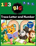 Big Trace Letter and Number: script handwriting book for kids, beginner handwriting book for 3 year old, baby zodiac handwriting book, abc books, abc hip hop baby book, abc to jay z kids book