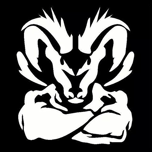 KCD Tough Ram Vinyl Decal Sticker|Cars Trucks Vans Walls Laptops Cups|White|6.5 X 7.5 in|KCD813
