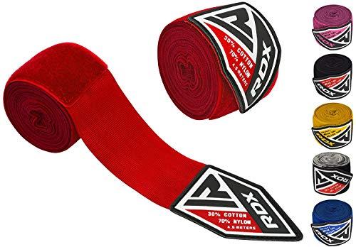 RDX Boxbandagen Wraps Boxen MMA Elastisch Handschuhe Daumenschlaufe 4,5 Meter Innenhandschuhe Muay Thai (MEHRWEG)