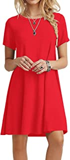 Best casual red dresses Reviews