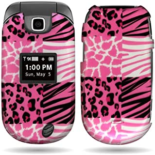 CoverON Pink Hard Cover Case with Exotic Skins Design for LG VN150 Revere 2 with PRY- Triangle Case Removal Tool