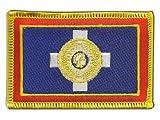 Aufnäher Patch Flagge Griechenland Athen - 8 x 6 cm