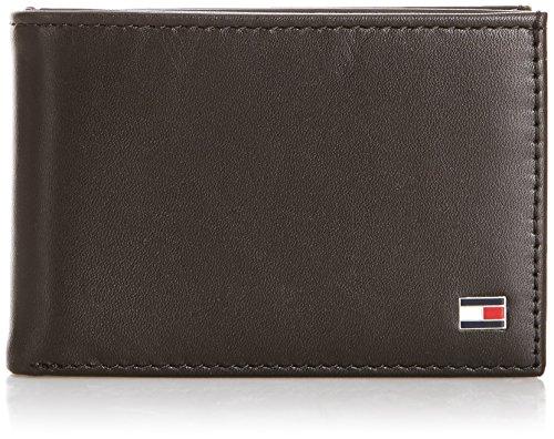 Tommy Hilfiger Herren Eton Mini Cc Flap & Coin Pocket Geldbörsen, Schwarz (Noir (990 Black), OneSize