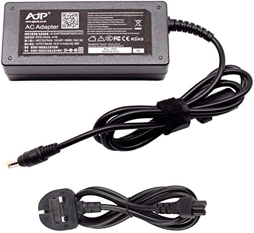 New 18.5V 3.5A 65W Replacement Ac Adapter For Hp Pavilion dm3-1105ea Laptop Power Supply Charger With UK Power Cord-Sold By Wikiparts