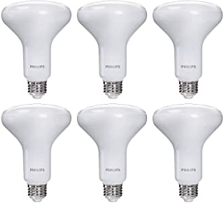 Philips LED Dimmable BR30 Frosted Light Bulb with Warm...