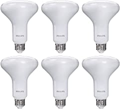 Philips LED Dimmable BR30 Frosted Light Bulb with Warm Glow Effect: 650-Lumen, 2700-2200-Kelvin, 7.2-Watt, Soft White, 6-Pack