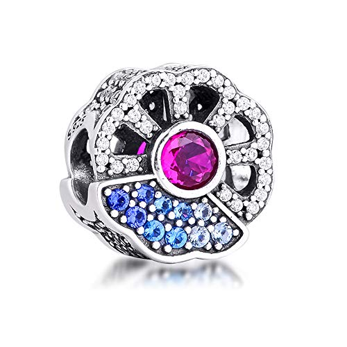 COOLTASTE 2020 Vorherbst, Blau & Pink, Kristallperle, 925 Silber, passend für Original Pandora-Armbänder, Charm-Armband, Modeschmuck