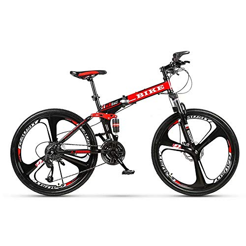 Novokart-Sport Pieghevole/Mountain Bike 24/26 Pollici 3 taglierina, Rosso