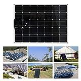 chengshiandebaihu 150W Paneles solares monocristalinos, Dispositivo de Carga Solar Ultrafino para Exteriores, Panel Solar monocristalino portátil, Fuente de alimentación Flexible para Acampar