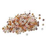 SODIAL 200 Pieces 5 MM Accessoires de bijoux Perle de simula