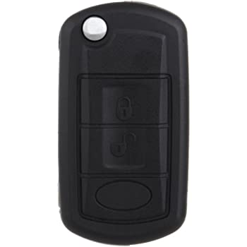 SCITOO Keyless Entry Remote Key Fob SHELL CASE Replacement for 3 Buttons Uncut Car Key for Range Rover LR3 2005-2009 2006-2009 Sport 2006-2011 1pc FCC NT8-15K6014CFF-TXA YWX000071