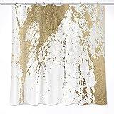 LB Abstract Marmor Duschvorhang, Alt Zerfetzt Marmor Textur, Wasserdicht Polyester Stoff Bad Dekor Gardinen mit Haken, 180X180CM