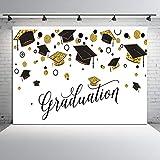 Dudaacvt 7x5ft Vinyl Graduation Party Backdrop for Photography Class of 2021 Congrats Grad and Graduation Cap Design Photo Booth Backdrop Customized Photo Backgrounds Studio Props D171