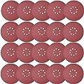 Sackorange 20 PCS 9-Inch 8-Hole Hook-and-Loop Sandpaper - Grinding Abrasive Sanding Disc for Drywall Sander Wood Furniture Finishing