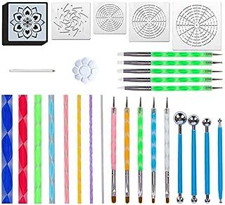 Mandala Dotting Tools for Painting Rocks Mandala Painting Dotting Stencil Dot Mandala Kit 34PCS