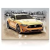 Ford Mustang - Leinwand Bild auf Keilrahmen Wandbild Auto