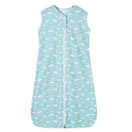 Schlafsack kinder sommer mädchen junge baby Frühling schlafanzug baumwolle dünner neugeboren - 0.5 tog. (130CM (3-6Jahre), Hellblau)