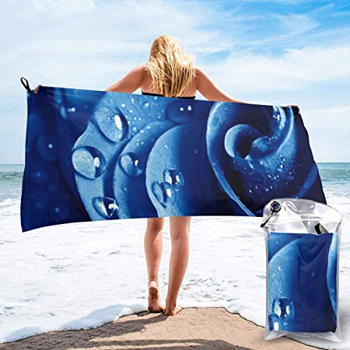 Toallas de Playa de Antiarena de Microfibra para Hombre Mujer, 130x80cm, Toallas Baño Calidad Gigante Secado Rapido para Piscina, Manta Playa, Toalla Yoga Deporte Gimnasio,Rosa Azul