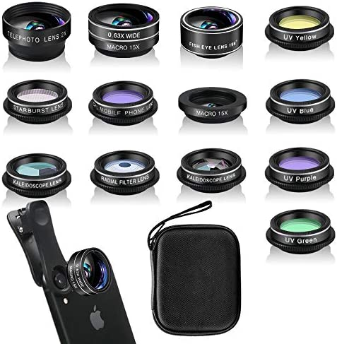 Phone Camera Lens Kit 13 Pieces for iPhone 11 Xs 10 8 7 6 Plus SE Samsung and Most Andriod Phone product image