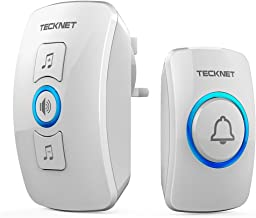 TeckNet Wireless Doorbell, Wall Plug-in Cordless Door Chime at 820-feet Range with 32 Chimes