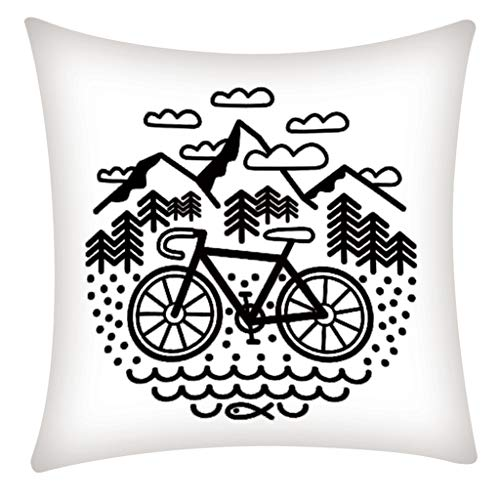 Janly Clearance Sale Pillowcase , Pillow Case Polyester Fiber Cushion Sofa Car Cushion Cover Home Decoration , Home & Garden (G)