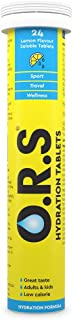 O.R.S Hydration Tablets with Electrolytes, Vegan, Gluten and Lactose Free Formula – Natural Lemon Flavour, 24 Tablets