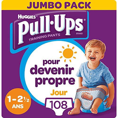 Huggies Pañales Pull-Ups por día, para niños, 1 - 2.5 años, paquete de 4 x 27 pañales