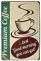 プレミアムコーヒーキッチン メタルポスター壁画ショップ看板ショップ看板表示板金属板ブリキ看板情報防水装飾レストラン日本食料品店カフェ旅行用品誕生日新年クリスマスパーティーギフト