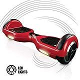 ACBK - Hover Auto-équilibré avec Roues de 6.5' (Lumières LED intégrées) Vitesse Maximum: 10-12 km/h - Autonomie: 10-20 km -...