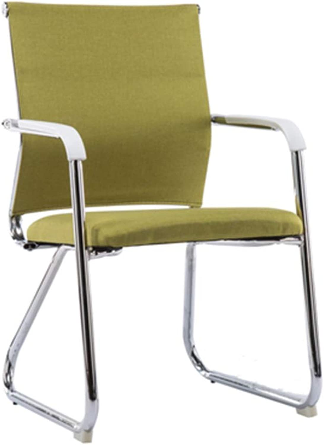 Comfortable Chair, Soft Easy to Clean Chair Dorm Room School Chair Hotel Hairdresser Bar Chair Computer Game Chair (color   Green)