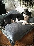 Hundebett XXXL grau, 120×100 cm, Hundekissen waschbar, Tier-Kissen - 6