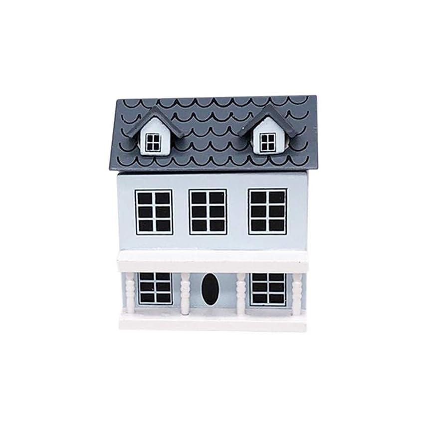 召集する電卓ペデスタル1st market ?木製ミニチュアハウス1/12ミニドールハウスミニチュアヴィラミニハウス可動式グレールーフ玩具スタイリッシュで人気のインテリアモデルに最適