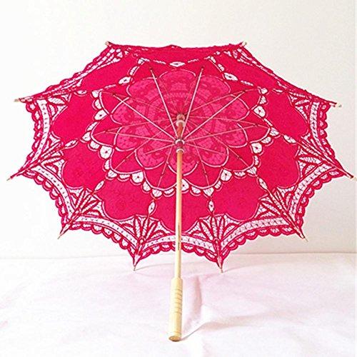 bpblgf Dentelle à La Main Parapluie Parapluie Style EuropéEn Japonais Et CoréEn Crochet Fleur OcéAn Photographie Accessoires De Mariage Parapluie, a, 68 * 48