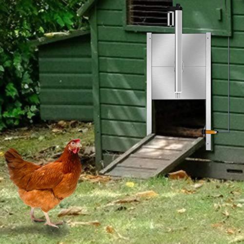 KKTECT Ouvre-porte automatique de poulailler Extérieur...