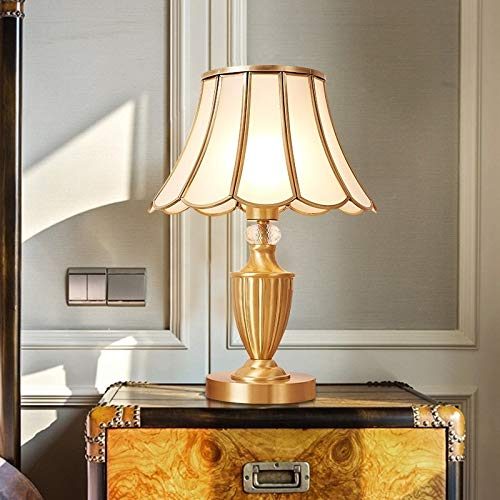 Zaklamp Europese Bruiloft Decoratie Puur Koperen Bedroom Nachtkastje Lamp Eye-Care Desk Lamp