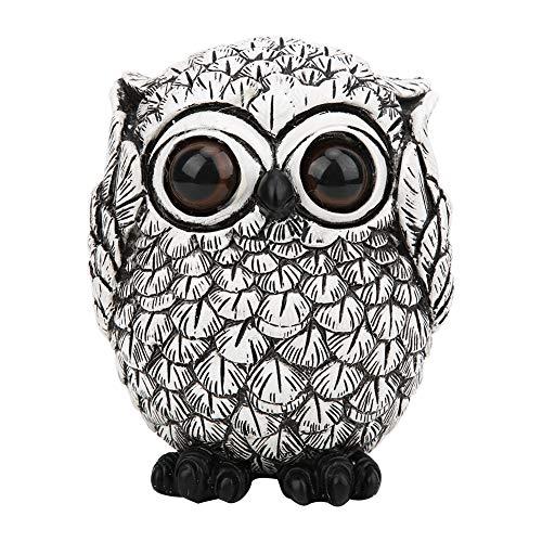 HEEPDD - Adorno de búho, Exquisita Forma de búho de Resina para decoración del hogar, Accesorio Creativo de cumpleaños, M