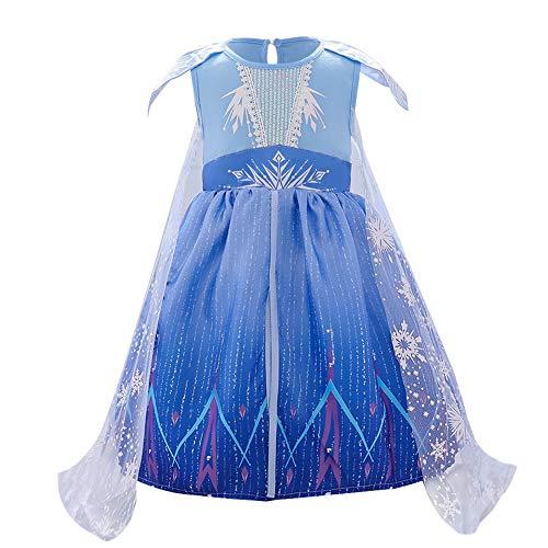 FYMNSI - Disfraz de Elsa para bebé, diseño de helado, 2 helados, nieve, reina, Halloween, fiesta, carnaval, cosplay, primer cumpleaños, para 6 meses – 4 años