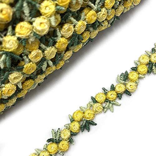 TEBX Cinta bordada de tela de encaje de flores de 2 yardas...
