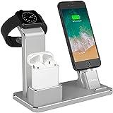 YFW Aluminium 4 in 1 Airpods Zubehör Apple Watch Ständer iPhone Docking Station für...