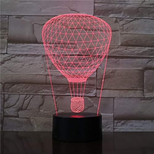 Zhuhuimin 3D gloeilamp heteluchtballon Direct 2019 visueel lichteffect multicolor band afstandsbediening op batterijen LED nachtlampje