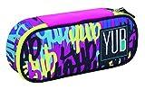 Seven Bustina Round Plus Graffiti Federmäppchen, 23 cm, 0.5 liters, Violett (Viola)
